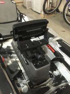 The RAM Mount horizontal (lower profile for head unit)