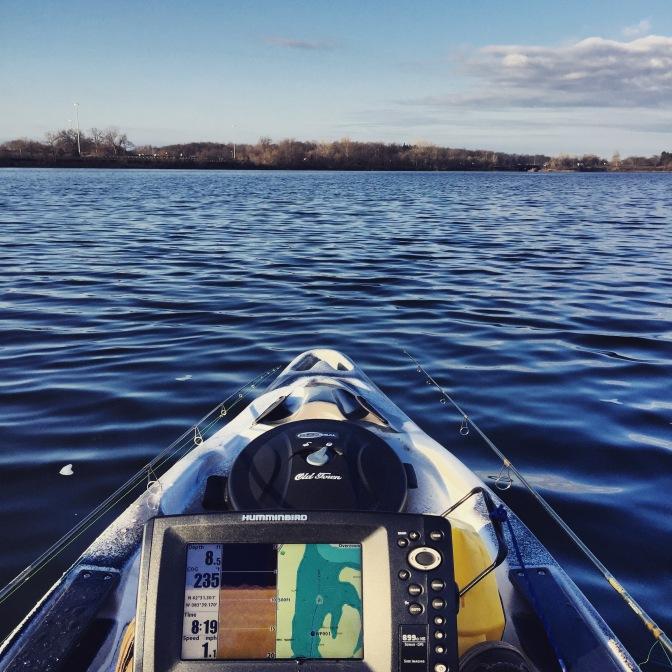 Kent Lake on a blustery morning.